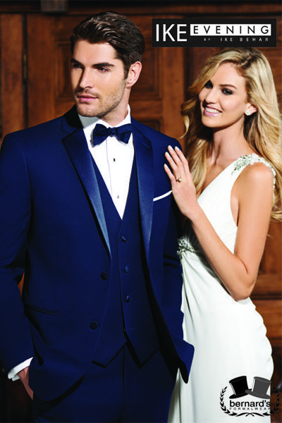 Bernard's Formalwear - Bernard's Formalwear - Ike Behar Sebastian, #slimfit Navy Notch Lapel in super soft Super 120's wool! #blueisthenewblack #bernardstux