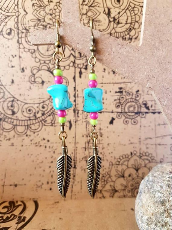 Check out this item in my Etsy shop https://www.etsy.com/au/listing/534482132/turquoise-boho-earrings