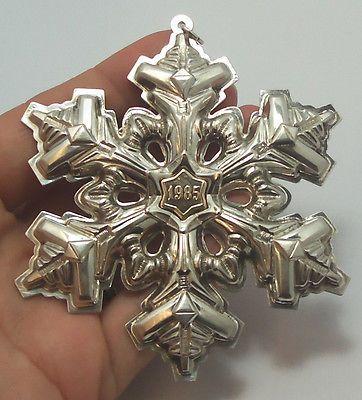 1985 Gorham Sterling Silver Detailed Snowflake Tree