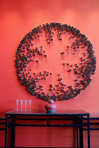 Art installation at W Hotel's Yen Restaurant in Taipei