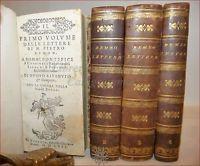 BEMBO, Pietro: LETTERE Pontefici Donne Congiunti 4 volumi 1562 Venezia, Legature