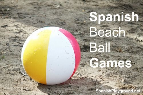 7 Fun Spanish games for kids using a beachball. Easy activities, great for speaking Spanish. #Spanish speaking skills #Spanish speaking activities #Spanishgames http://spanishplayground.net/7-spanish-beach-ball-games-kids/