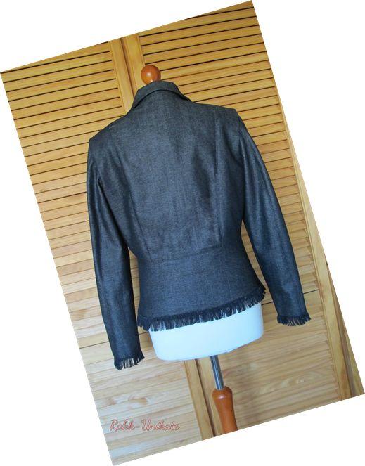 Western Styl. Jeans Jacke mit Fransen. Maßschnitt gr.40 Damen