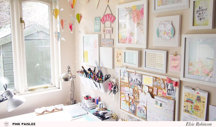 Join Elsie as she shows you how she keeps her craft room an inspiring and organised space to create in!