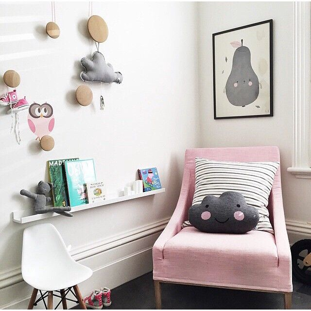A cute pink and grey nursery