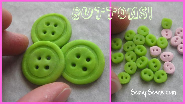 How to make buttons out of polymer clay. DIY