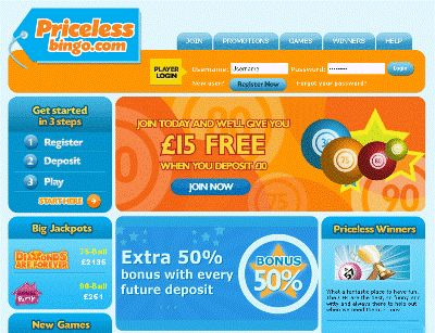 Priceless Bingo made the move to new software recently and with the site has gone from strength to strength! The games are better, the promotions are better...the site is better than ever!
