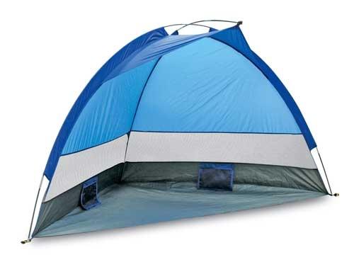 BRUNNER SUN SHELL AIR  Šator za zaštitu od sunca, za plažu. Sa bočnom ventilacijom. Lagan, kompaktan. Sa specijalnim džepovima za vrećice pjeska protiv vjetra. Pričvršćivanje klinovima također je moguće.  Cijena: 199,00 kn  http://www.kampoprema.com/svezadjecu-sunshellair-p-188.html