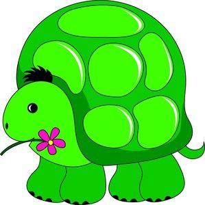 Turtle Clipart Image - Cute Cartoon Turtle