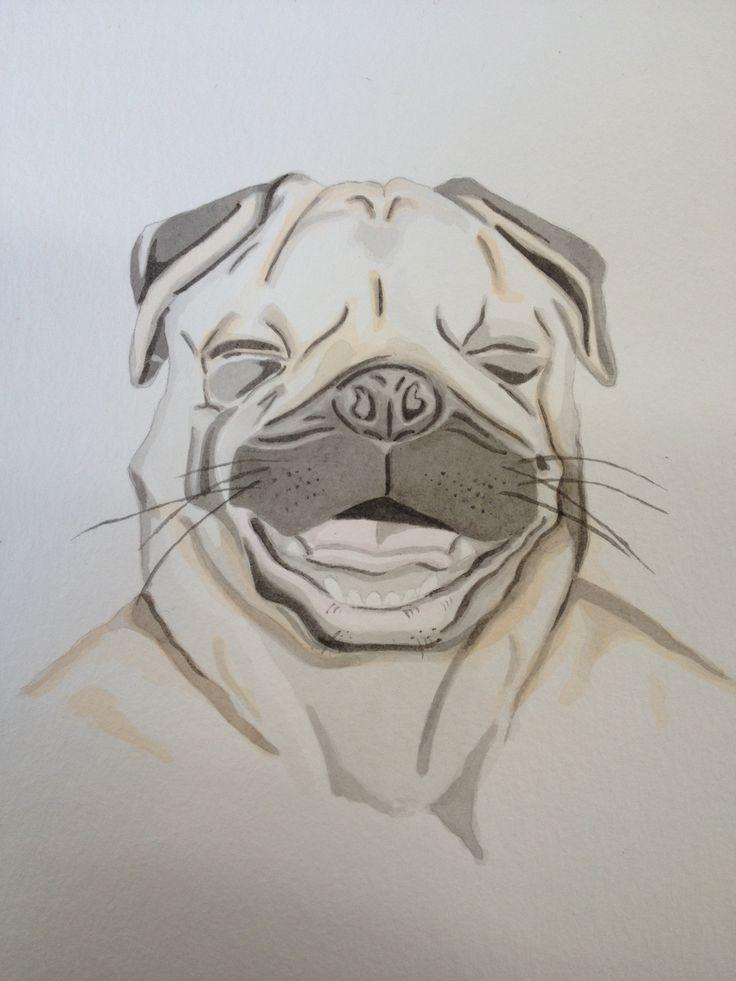 PUG 2013 Pencil and watercolour