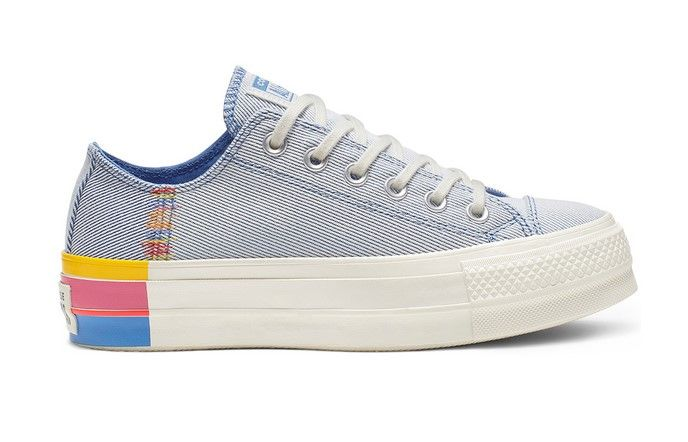 Converse Chuck Taylor All Star Rainbow plate forme à tige basse