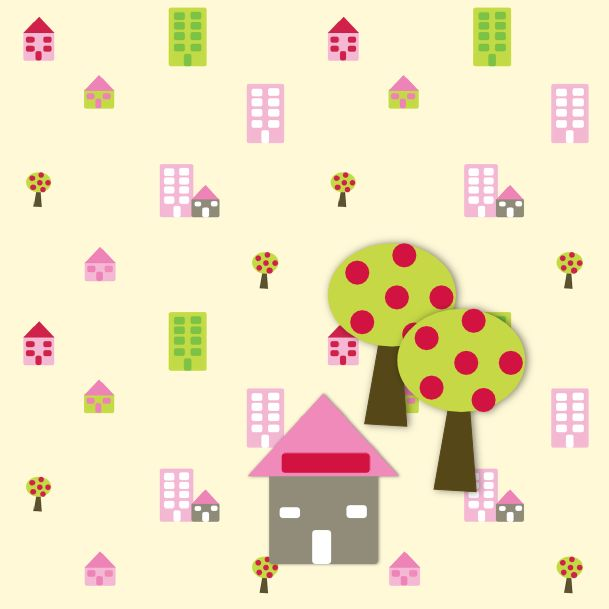 free digital tiny houses scrapbooking paper and embellishment – Haus Clipart und Muster – freebie | MeinLilaPark – DIY printables and downloads