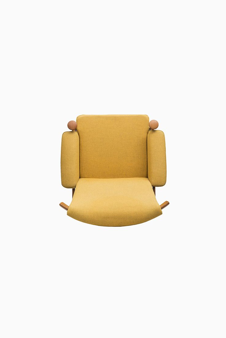 Pool chair top view - Finn Juhl Bwana Easy Chair In Teak And Yellow At Studio Schalling Teak Retro
