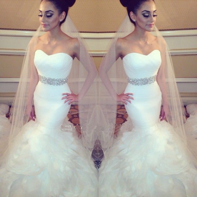Aliexpress.com : Buy Vestidos De Novia Mermaid Wedding Gown Off the Shoulder…