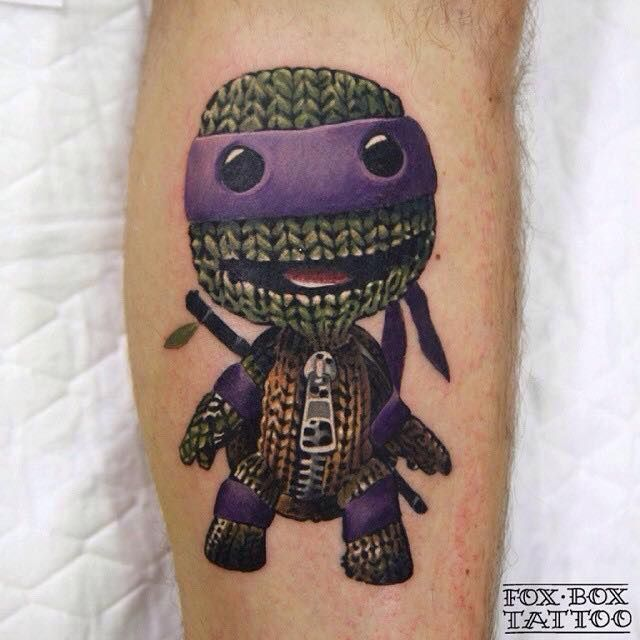 3D Ninja turtle tattoo