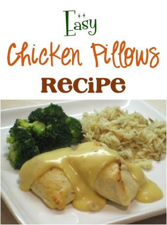 Easy Chicken Pillows Recipe!  This is such a fun, tasty recipe to add to your dinner menu this week... simple and SO delicious!