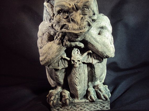 Gargoyle Statue Statuary Concrete Awesome by MountainArtCasting He has such character! Look at that face.
