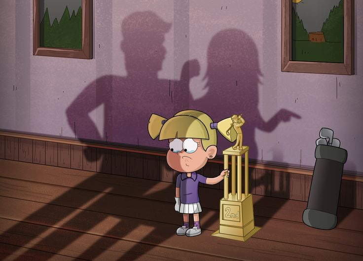 Gravity Falls young Pacifica Northwest. Her parents are mad she didn't get first. Poor girl.