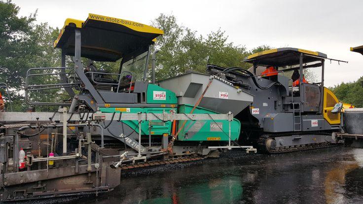 Stolz Bau asphalt paver vogele 2100 3i 3d model heavy equipment and