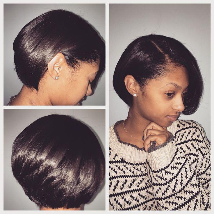 Silk Blowout On Short Natural Hair