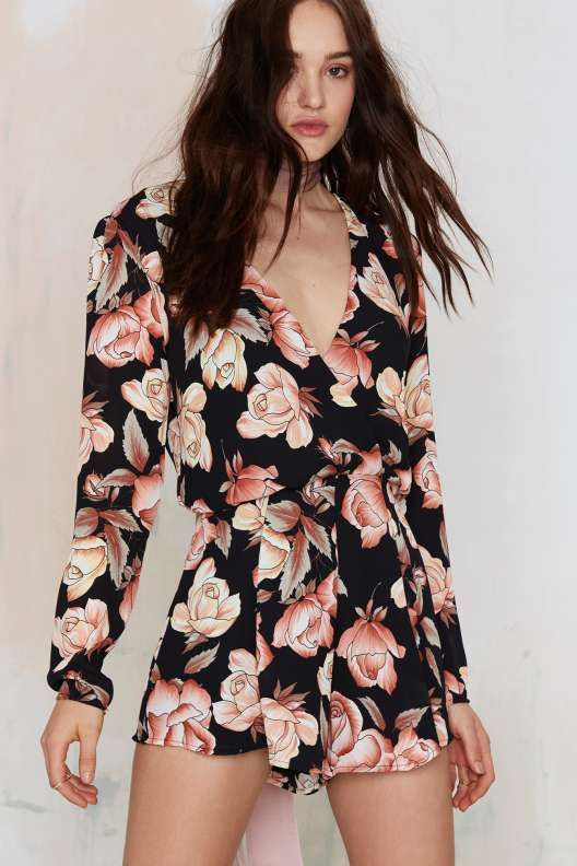 Ophelia Floral Romper | Thanks, It's New | Pinterest ...