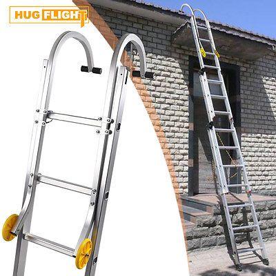 Roof Hook Kit Extension Ladder Universal Fit Wheels Fixings Aluminium Quick  HOT