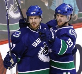 Sedin Twins!  Vancouver Canucks