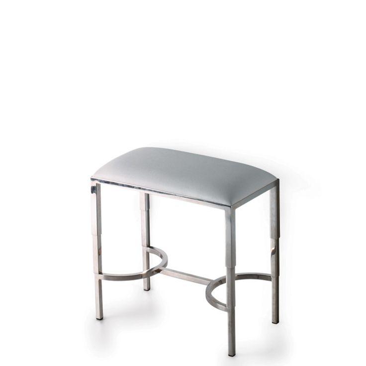 easton wide bath stool or vanity stool | contemporary stools, bath furniture