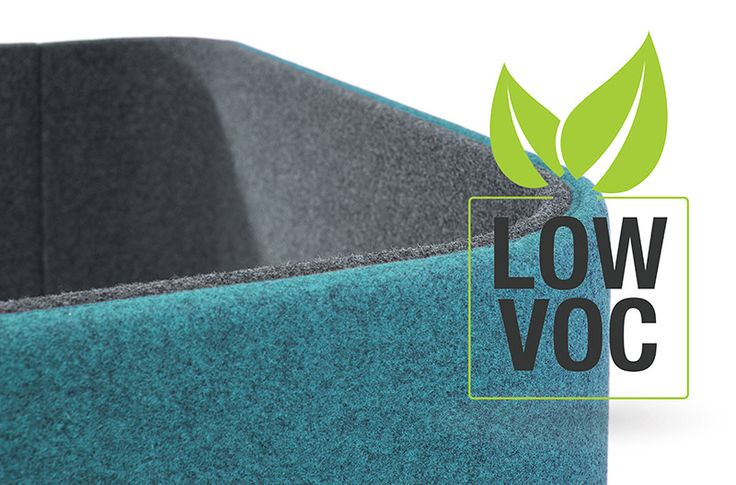 Return Focus Pod has been tested for VOCs and has no harmful offgassing - good news for healthier offices and the environment!