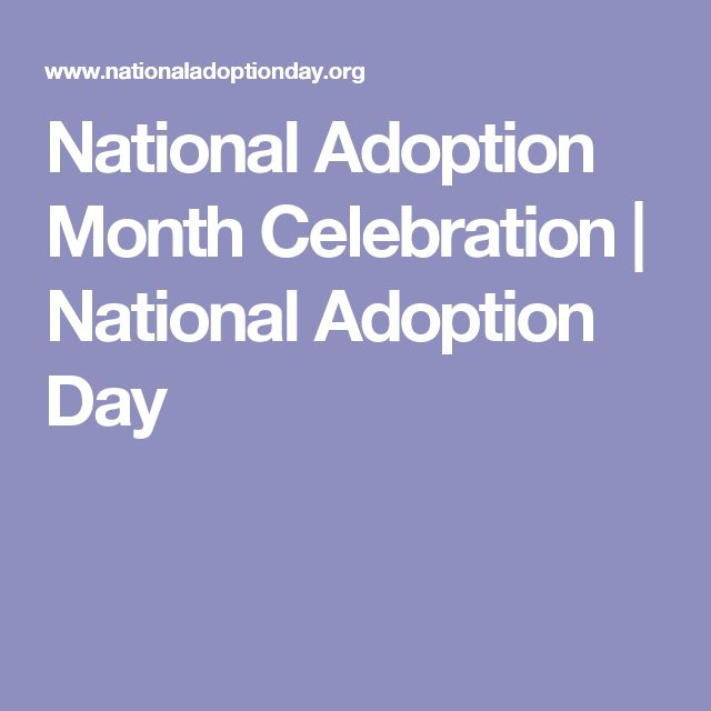 National Adoption Month Celebration | National Adoption Day