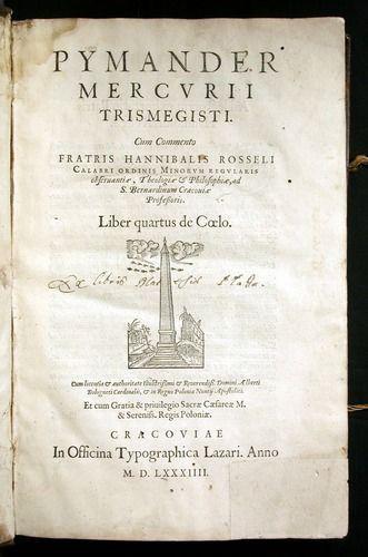 Hermes Trismegistus - original copy