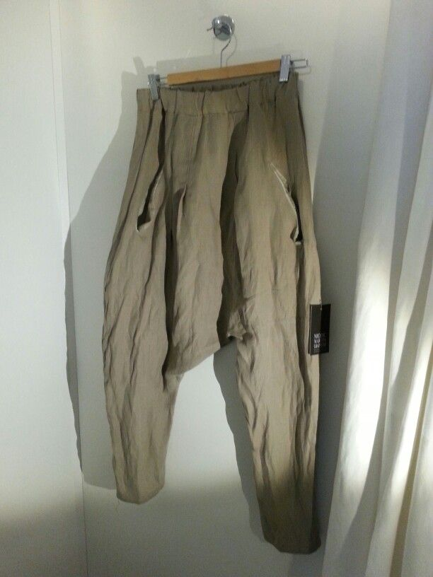 Asymmetric pants, Linen-silk.MODC