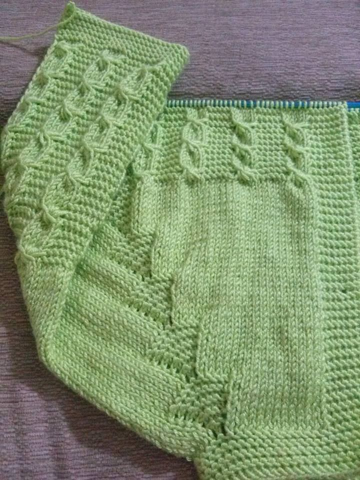 No pattern but what a fab way of doing the raglan increases!