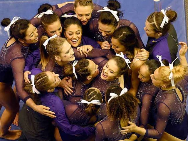 LSU gymnastics upsets No. 1 Oklahoma