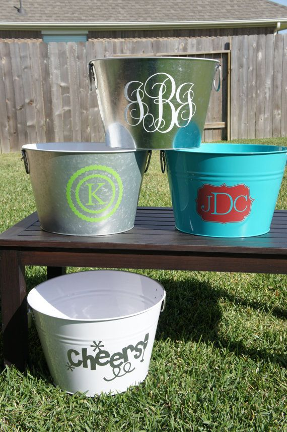 Personalized Metal Beverage Tub/ Cooler with Bottle Opener