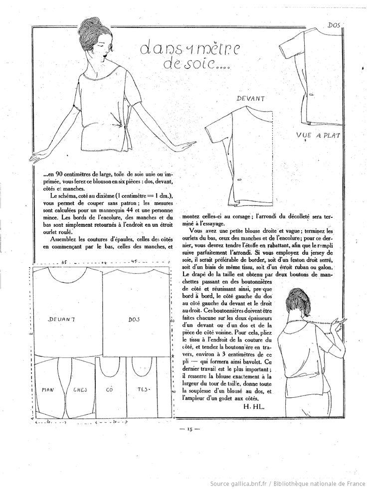 free sewing vintage pattern / La Femme de France 1920/03/07