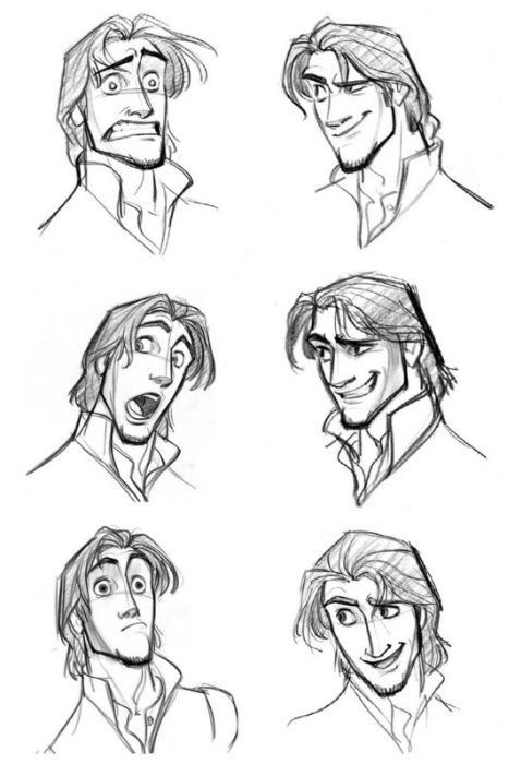 Flynn Rider Expressions - Jin Kim