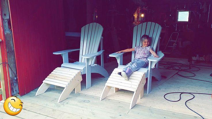 Adirondack Chairs grandpa style. Plans bought from http://www.plansinwood.com/ #adirondackchairs #Adirondack #diy #homemade