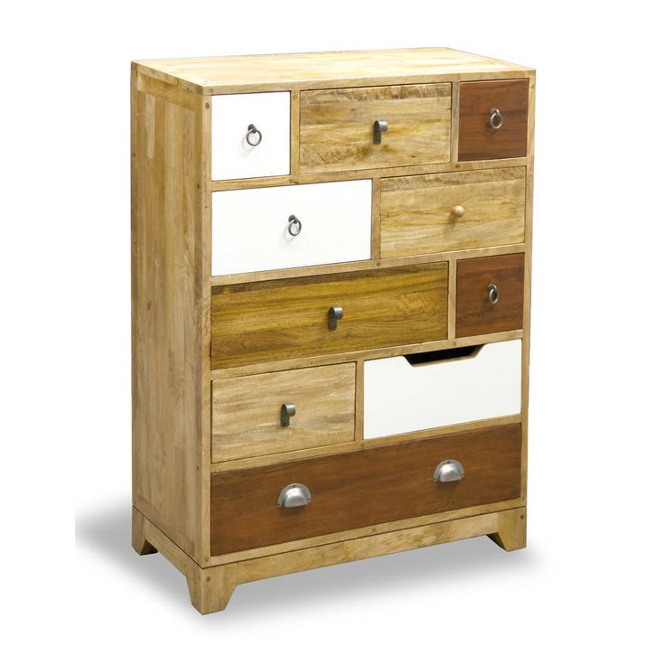 Natural Eclectic Ten Drawer Tall Chest