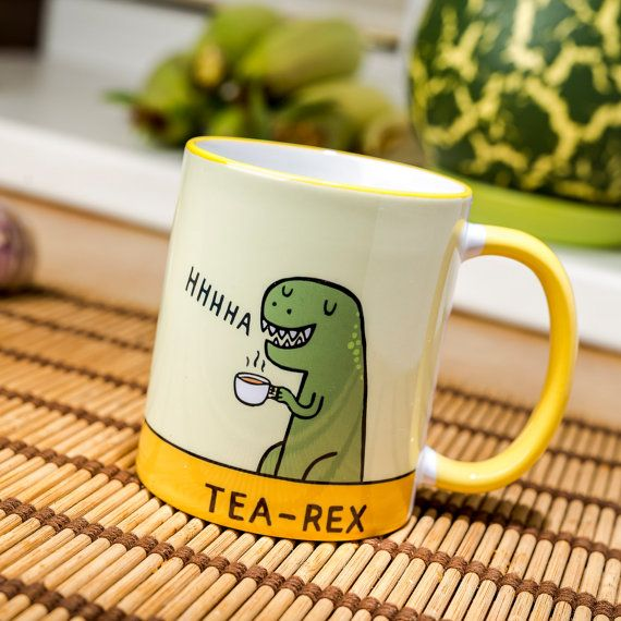 Tea Rex mug coffee cup ceramic funny T Dinosaur Jurassic Park novelty gift new Perfect gift for friends. Ceramic 11oz mug The quality print in this product is achieved by a process of dye sublimation that results in a truly deep colorson product Safe dishwasher and micrwave to use. Shipping for all world. Shipping takes to Europe union about 10-16 days. Shipping not Europe union about 26-36 days.