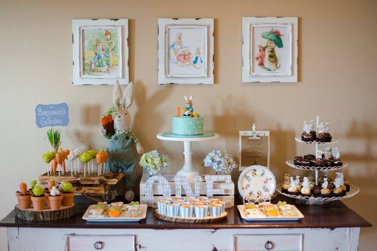 Peter Rabbit themed first birthday party!