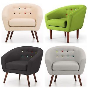 Armchair Sofa 1 Seater Couch Fabric Futon Relax Furniture Cream/Black/Lime/Grey   eBay