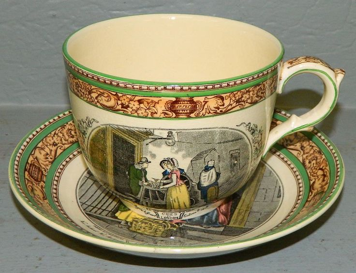 Adams Cries Of London Cup And Saucer Antique Amp Vintage