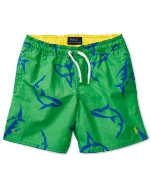 Ralph Lauren Printed Swim Trunks, Toddler Boys (2T-4T) & Little Boys (2-7) - Shark 4/4T
