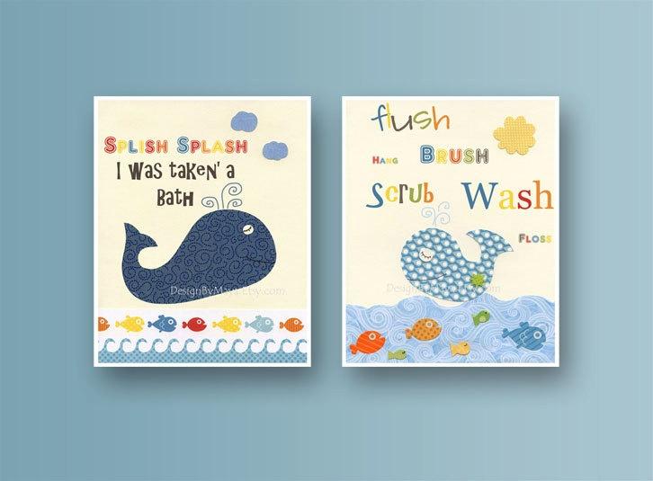 Bathroom Print For Kids Nursery Wall Art Bathroom Decor Kids Jackson Nursery
