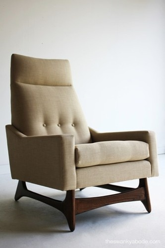 Mid Century Modern Highback Lounge Chair for Craft Associates | eBay