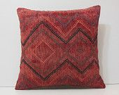 red pillow cover 20x20 red cushion cover red pillow case red decorative pillow red throw pillow red rug red accent pillow kilim pillow 16642