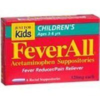 FEVERALL CHILD SUPPOS 120 MG Size: 6 by ACTAVIS - OTC PRODUCTS (E3). Save 28 Off!. $5.05. FEVERALL CHILD SUPPOS 120 MG Size: 6