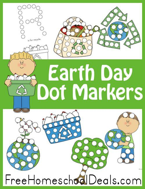 Free Earth Day Dot Marker Set 16 Pages Spring Easter St