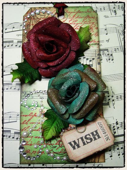 Tim Holtz paper flower tutorial